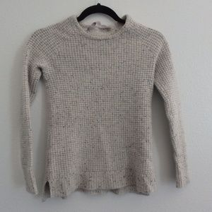 Athleta Cashmere Lodge Sweater Grey Donegal